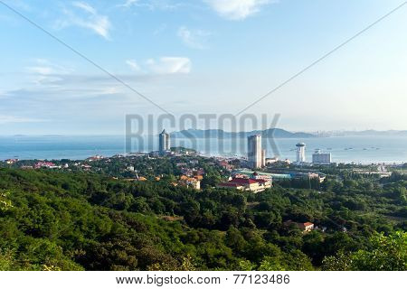 Qingdao or Tsingtao, China beautiful seaside scenery