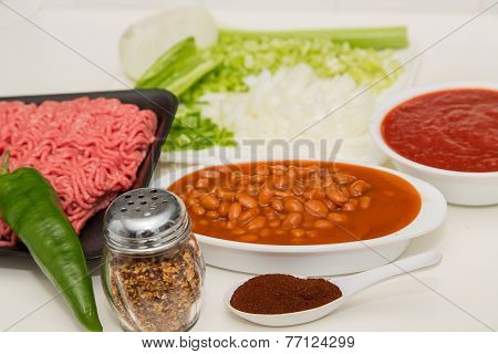 Whole Pepper Chili Powder And Chilli Ingredients