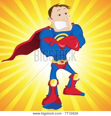 Super Man Hero Dad.
