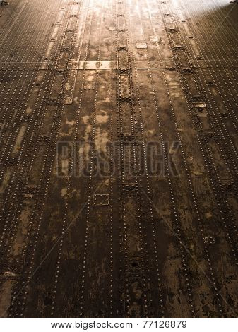 Metal Floor On Military Plane