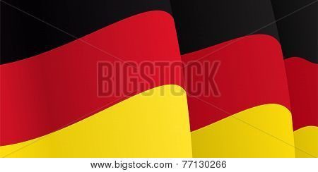 Background with waving German Flag. Vector