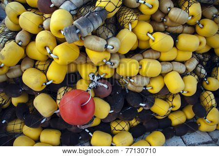 Buoys From Fishing Net