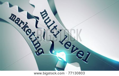 Multi Level Marketing Concept on the Gears.