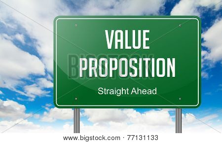 Value Proposition on Highway Signpost.