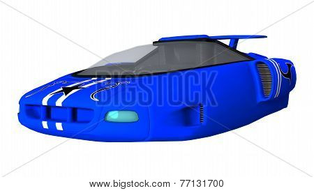 Blue Futuristic Car