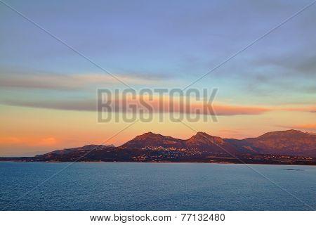 Sunset On Corsica Near Calvi