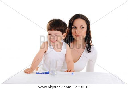Young Mother And The Boy