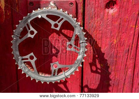 Recycled Bicycle Crank As Door Handle