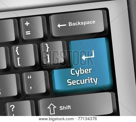 Keyboard Illustration Cyber Security