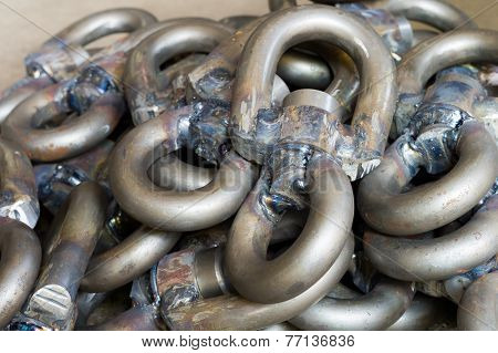 Group of sail shackles