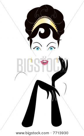 Retrato de mulher de glamour