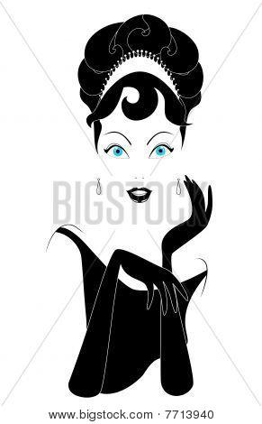 lamour woman portrait in black