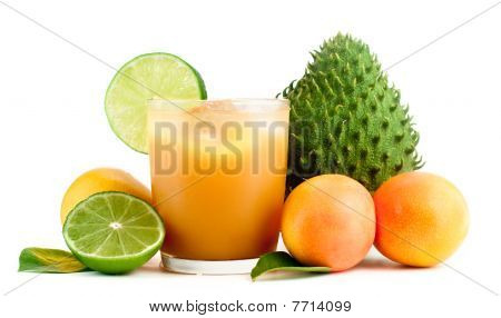 Tropical Fruits And Fresh Juice