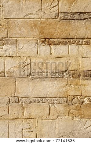 Decorative Relief Brown And Ecru Plaster