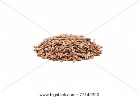 Flaxseed On White