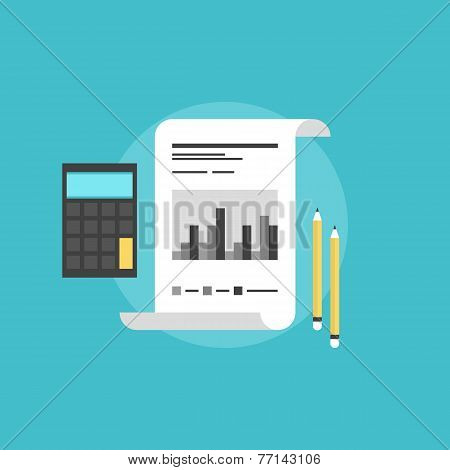 Company Accounting Flat Icon Illustration