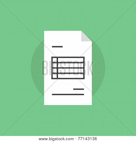 Invoice Paper Flat Icon Illustration