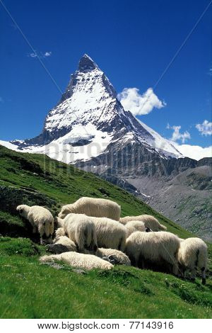 The famous Matterhorn mountain in Zermatt