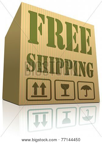 free shipping package delivery from online web shop order cardboard box with text