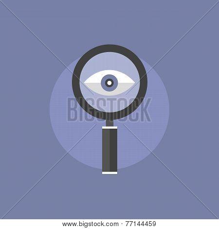 Searching Flat Icon Illustration