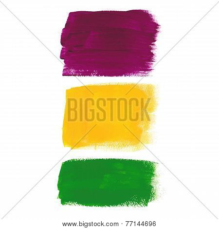 Vector illustration of Mardi Gras acrylic banners