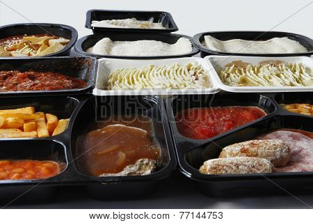 Common TV Dinners available at UK supermarkets