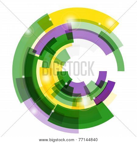 Vector illustration of a Mardi Gras background