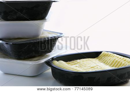 Frozen Shepherds Pie with a pile of other ready meals