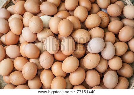 Fresh Organic Eggs. Organic Food Background