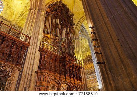 Cathedral La Giralda at Sevilla Spain - architecture religion background
