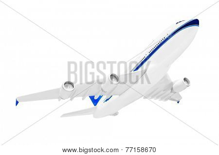 Model of plane isolated on white background