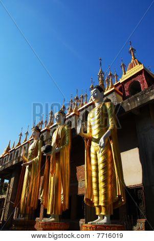 Three Stand Buddha