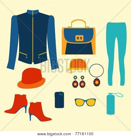 Woman Clothing Fashion Set Clothing And Accessories