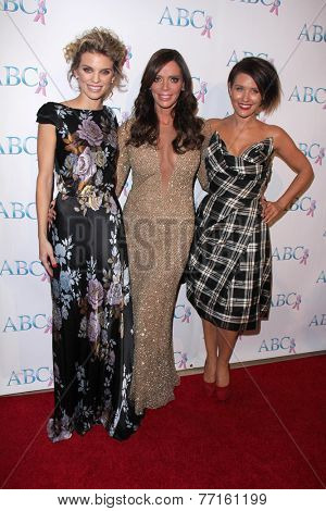 LOS ANGELES - NOV 22:  AnnaLynne McCord, Carlton Gebbia, Nicky Whelan at the ABC 25th Annual Talk Of The Town Black Tie Gala at the Beverly Hilton Hotel on November 22, 2014 in Beverly Hills, CA