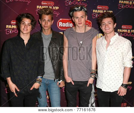 LOS ANGELES - NOV 22:  The Vamps at the Radio Disney's Family VIP Birthday at the Club Nokia on November 22, 2014 in Los Angeles, CA