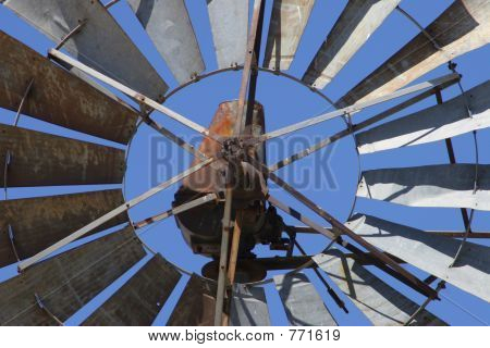 Rusted windmill blades