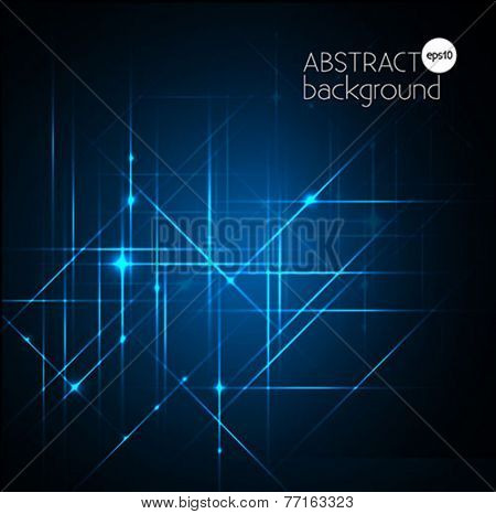 abstract blue lights backgrounds