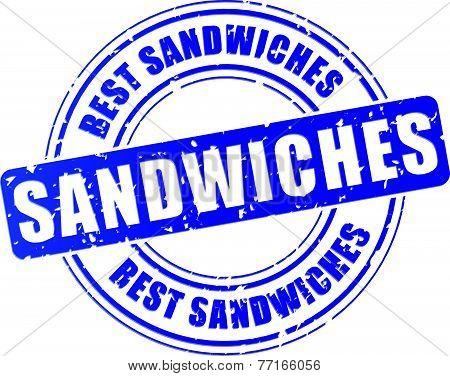 Sandwiches Blue Stamp