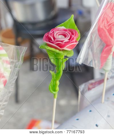 Thai desert sugar sculpt rose
