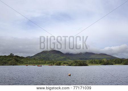 Cloud of mount near Lough Leane Lower Lake.