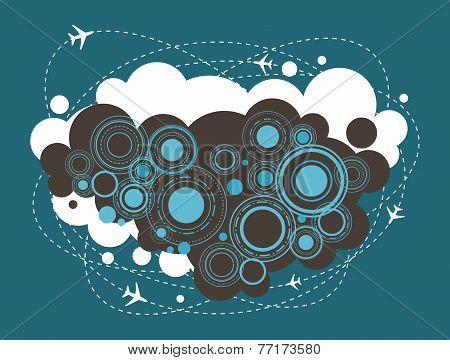 Airplane Urban Design, Infographic, Icon