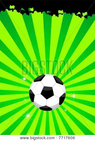 Soccer ball layout