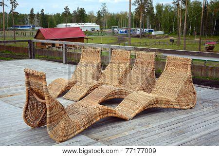 Wicker Chairs In The Sanatorium