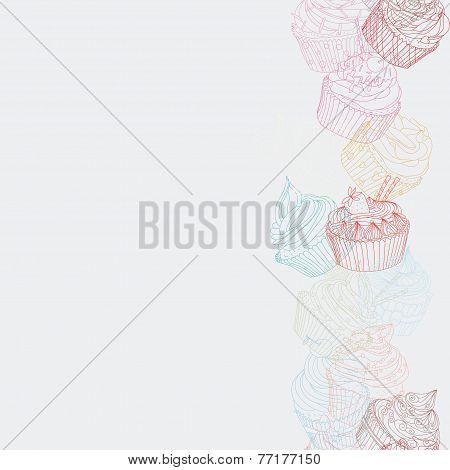 Cupcake Border Pattern