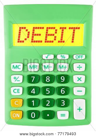 Calculator With Debit On Display