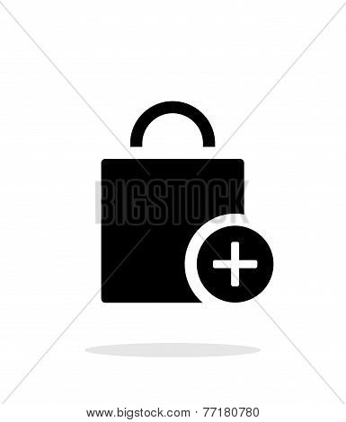 Handbag add goods simple icon on white background.