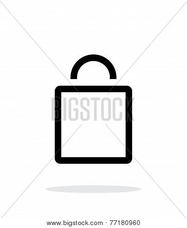Empty bag simple icon on white background.