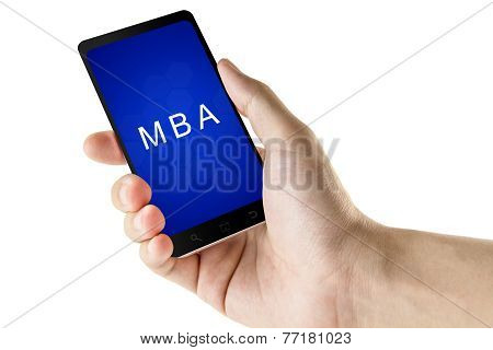 Master Of Business Administration Or Mba Word On Smart Phone