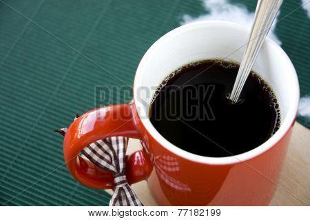 Close Up Hot Coffee