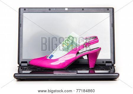 Women's Online Shopping - Pink Heel